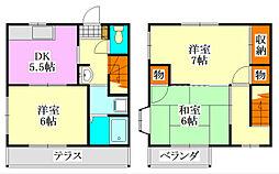 [テラスハウス] 千葉県船橋市二宮1丁目 の賃貸【/】の間取り