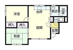 ホワイトハイツ3[1階]の間取り