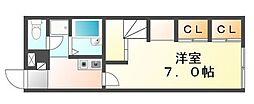 香川県丸亀市土器町東7の賃貸アパートの間取り