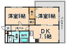 兵庫県宝塚市山本中2丁目の賃貸マンションの間取り