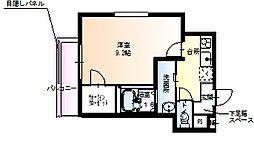 兵庫県尼崎市東園田町6丁目の賃貸アパートの間取り