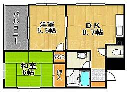 MKSマンション[3階]の間取り