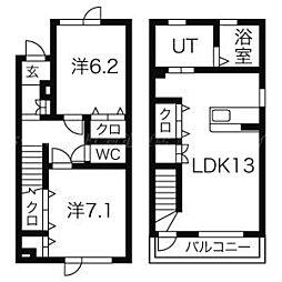 プレシャスガーデンN[1階]の間取り