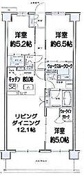 千葉県千葉市稲毛区天台1丁目の賃貸マンションの間取り