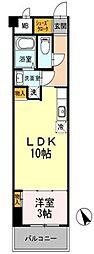 神奈川県川崎市中原区中丸子の賃貸マンションの間取り