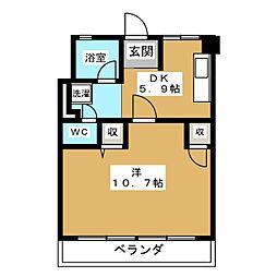 UR富吉第2[3階]の間取り