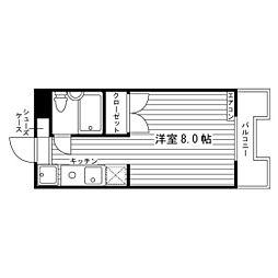 パルハイム宮東[3階]の間取り