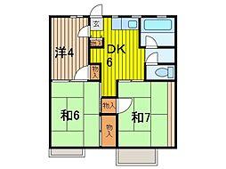 コーポ内田[1階]の間取り
