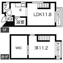 JR仙山線 国見駅 徒歩10分の賃貸マンション 1階1LDKの間取り