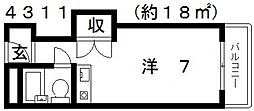 メゾン阪南[502号室号室]の間取り