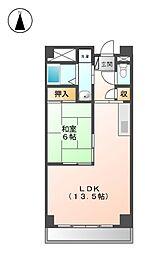 ア−バンステ−ジ田幡[2階]の間取り