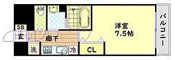 Osaka Metro中央線 堺筋本町駅 徒歩5分の賃貸マンション 14階1Kの間取り