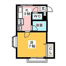 ルーム6[1階]の間取り