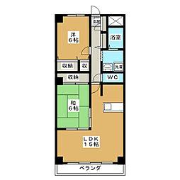 サニーソシア21[2階]の間取り