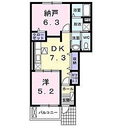 滋賀県彦根市西今町の賃貸アパートの間取り