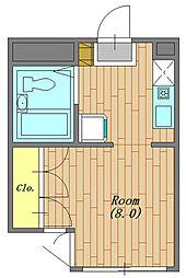 サンクレール相模原 202号室[2階]の間取り