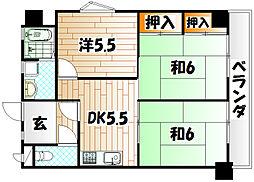 第4共立ビル[2階]の間取り