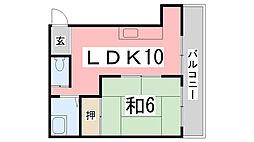 TKマンション[401号室]の間取り