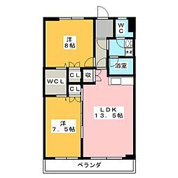 明宝マンション[3階]の間取り
