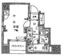 東京都新宿区四谷本塩町の賃貸マンションの間取り