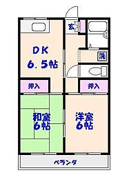 夏見レヂデンスN[203号室]の間取り