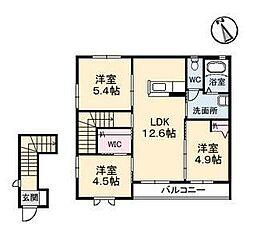 パークビレッジ A棟[2階]の間取り