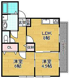 星田パナハウス[1階]の間取り
