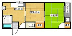 マンションアキラ[2階]の間取り