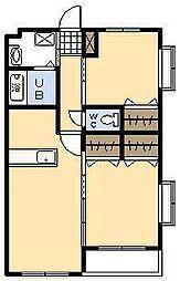 Mero-Battie[3階]の間取り