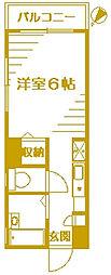 サンクレージュ横浜片倉町[3階]の間取り