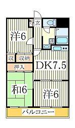 TS第一マンション[2階]の間取り