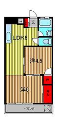 越川第1ビル[5階]の間取り