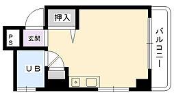 兵庫県西宮市下葭原町の賃貸マンションの間取り