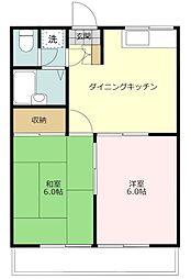 東京都八王子市散田町4丁目の賃貸アパートの間取り