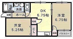 八尾マンション[1階]の間取り