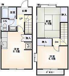 [テラスハウス] 神奈川県小田原市酒匂2丁目 の賃貸【/】の間取り