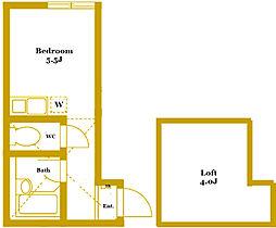 ユナイト生麦レオニックの杜[2階]の間取り