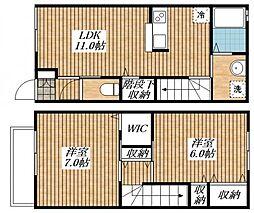 ラフィネシャンブル[1階]の間取り