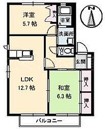 グランカーサA棟[2階]の間取り