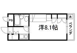 セレーネ田辺3A[309号室]の間取り