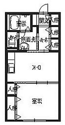 ル・ミュー サウス[1階]の間取り