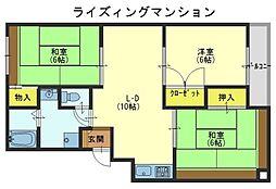 ライズィングマンションB[1階]の間取り