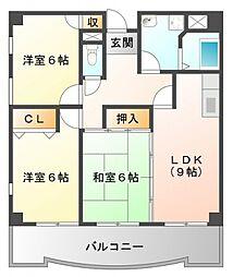 カルム江坂[8階]の間取り