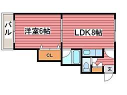 北海道札幌市豊平区西岡二条8丁目の賃貸マンションの間取り