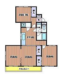 新町ベルメゾン[3階]の間取り