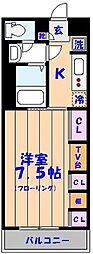 千葉県船橋市行田町の賃貸アパートの間取り