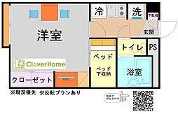 神奈川県座間市座間2の賃貸アパートの間取り