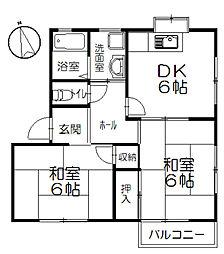 第2コーポ熊澤[2階]の間取り