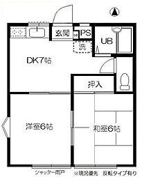 ガーデンハウス東戸塚B(ガーデンハウスヒガシトツカB)[1階]の間取り