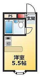 千葉県松戸市八ケ崎8丁目の賃貸アパートの間取り